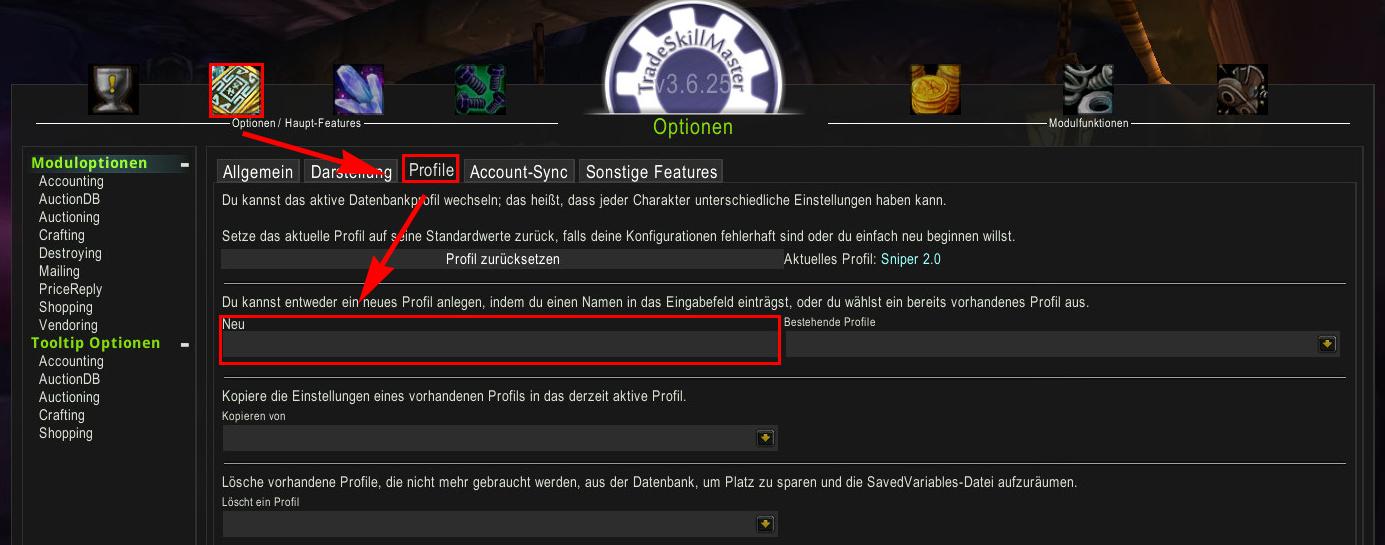 TSM Sniper Guide - Profil