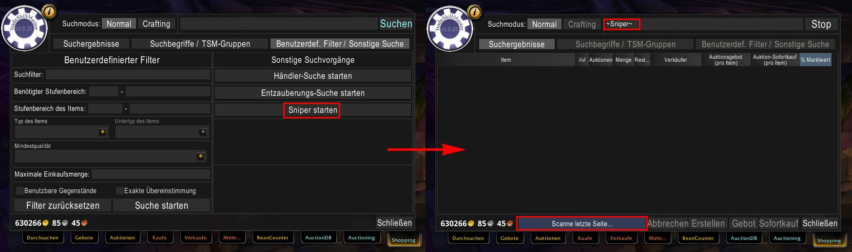 TSM Sniper Guide - Suche